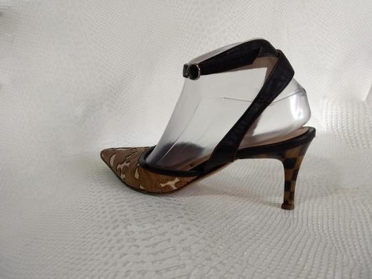 Casadei Brown and Ivory Pumps Image 5