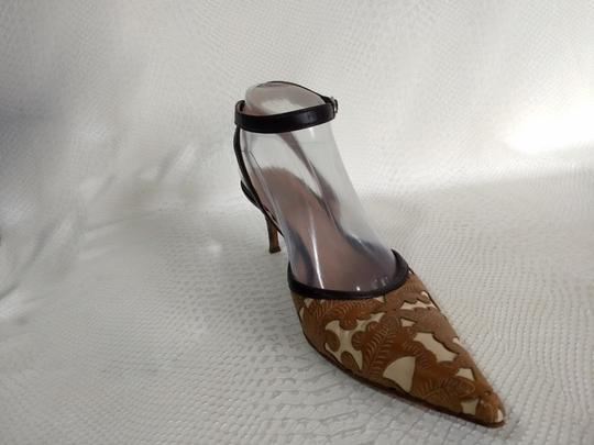 Casadei Brown and Ivory Pumps Image 3