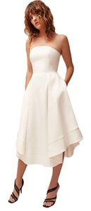 C/meo Collective Strapless Gown Wedding Gown Fit And Flare Pockets Dress