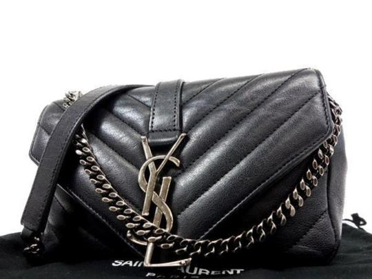 Preload https://img-static.tradesy.com/item/25050089/saint-laurent-ysl-quilted-college-monogram-chain-cross-body-235662-black-leather-shoulder-bag-0-0-540-540.jpg