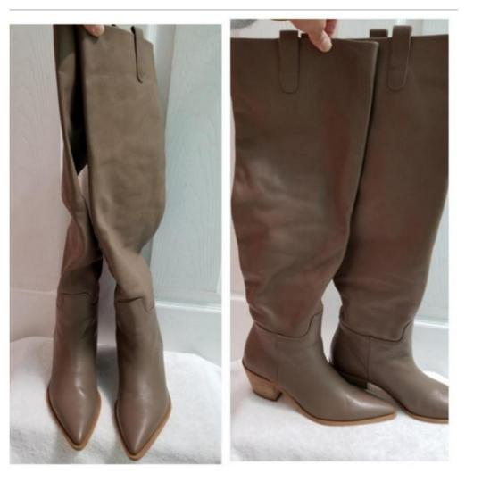 Zara Taupe Boots Image 2