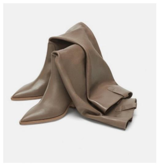 Zara Taupe Boots Image 5