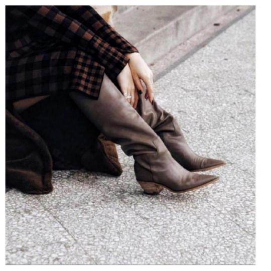 Zara Taupe Boots Image 8