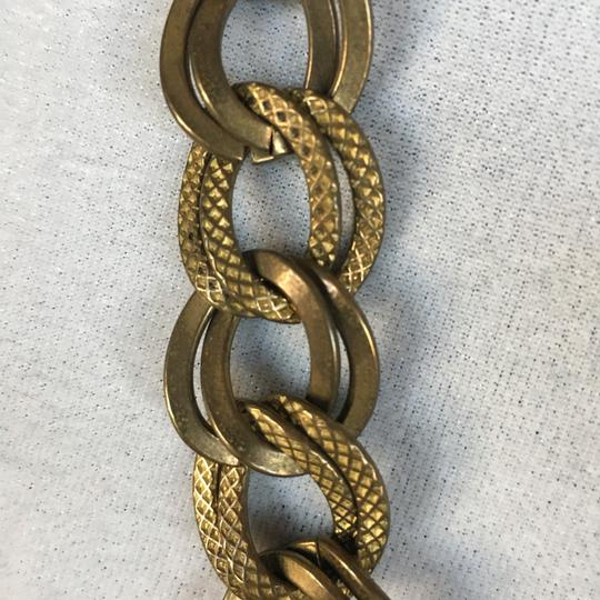 Tory Burch textured brass double chain link necklace Image 3