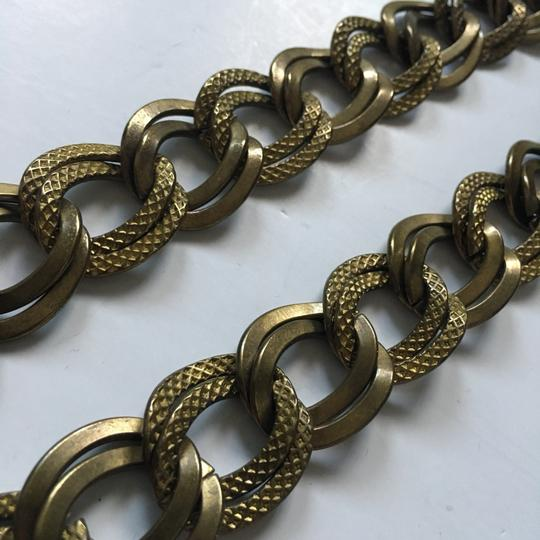 Tory Burch textured brass double chain link necklace Image 4