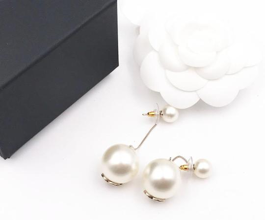 Chanel Chanel Brand New Classic Gumball Faux Pearl Dangle Piercing Earrings Image 1