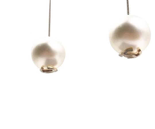 Chanel Chanel Brand New Classic Gumball Faux Pearl Dangle Piercing Earrings Image 4