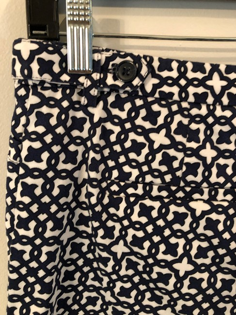 Laundry by Shelli Segal Print Dress Shorts Navy and White Image 2