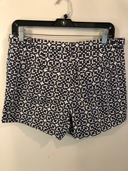 Laundry by Shelli Segal Print Dress Shorts Navy and White Image 3