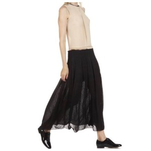black/cream Maxi Dress by Sandro
