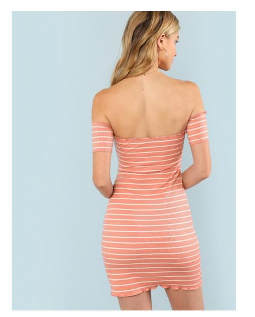 Rival Girl short dress Pink Women Size - Large Striped Bodycon on Tradesy Image 2