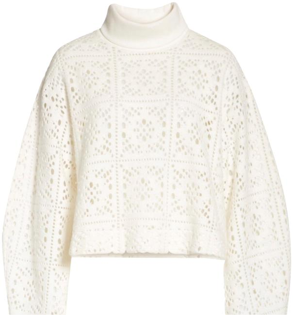 Preload https://img-static.tradesy.com/item/25050278/see-by-chloe-cream-lace-turtleneck-blouse-size-16-xl-plus-0x-0-1-650-650.jpg