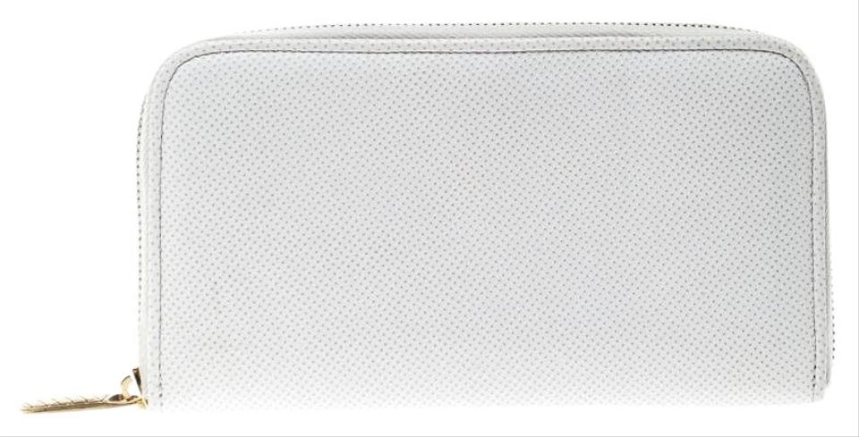 b5d7e5bda3353 Bottega Veneta White Nappa Leather Zip Around Wallet Image 0 ...