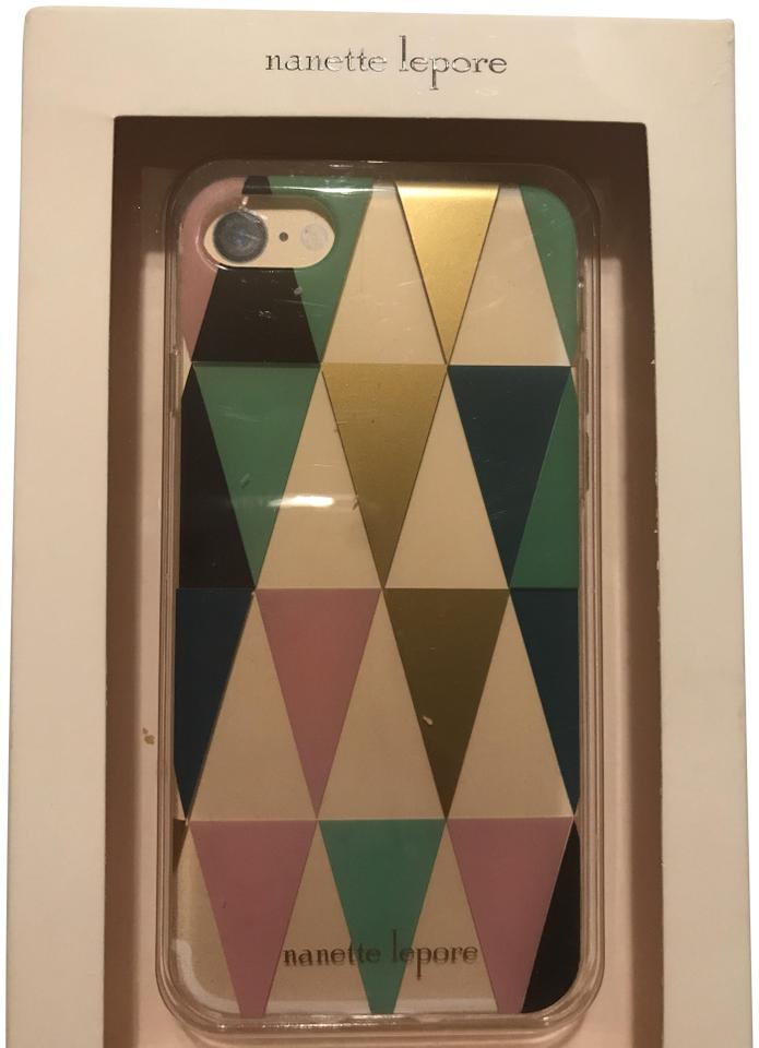 online store 8c1a9 24cd1 Nanette Lepore Gold/Pink/ Green/Black Prism Iphone 7 Case Tech Accessory
