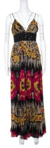 Multicolor Maxi Dress by Marchesa Notte Silk