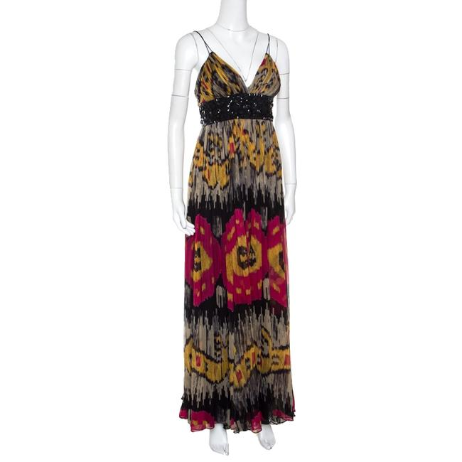 Multicolor Maxi Dress by Marchesa Notte Silk Image 1