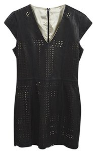 Parker Fall Winter Spring Luxury Leather Dress