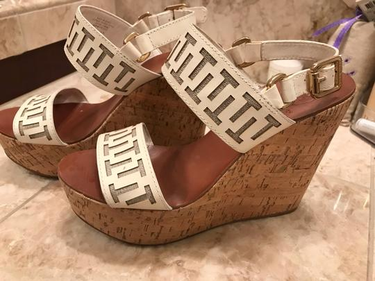 Tory Burch White leather and tan wedge Wedges Image 1