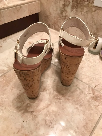 Tory Burch White leather and tan wedge Wedges Image 2