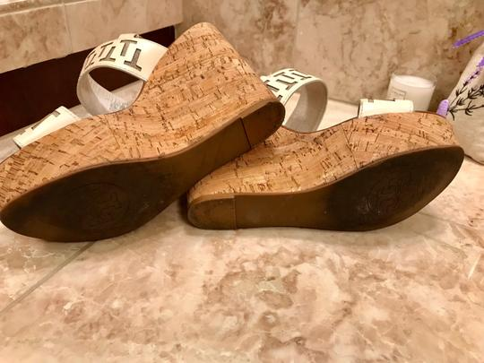 Tory Burch White leather and tan wedge Wedges Image 3
