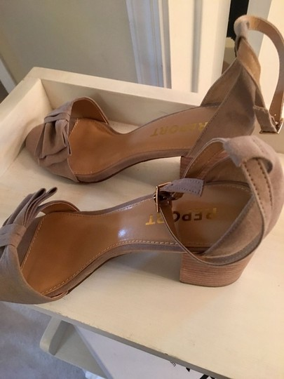 Report Signature - Pearlina Report Pearlina Collection Taupe Suede Sandals Image 7
