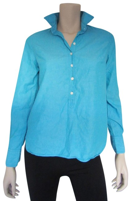 Preload https://img-static.tradesy.com/item/25050686/jcrew-aqua-half-high-hem-casual-shirt-blouse-button-down-top-size-2-xs-0-1-650-650.jpg