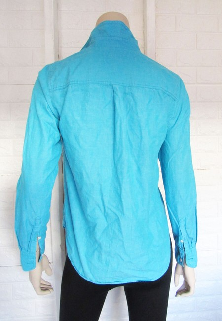 J.Crew Button Down Shirt Aqua Image 1