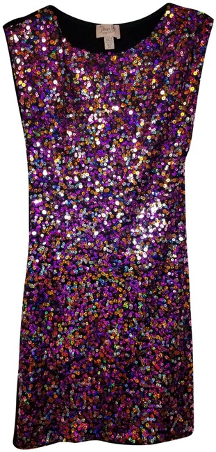 Preload https://img-static.tradesy.com/item/25050719/topshop-multi-colorblack-sequence-short-night-out-dress-size-2-xs-0-1-650-650.jpg