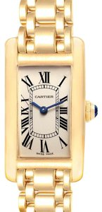 Cartier Cartier Tank Americaine 18K Yellow Gold Ladies Watch W26015K2