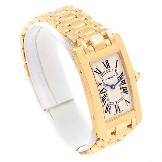 Cartier Cartier Tank Americaine 18K Yellow Gold Ladies Watch W26015K2 Image 2