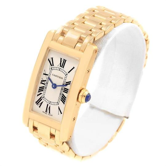 Cartier Cartier Tank Americaine 18K Yellow Gold Ladies Watch W26015K2 Image 3