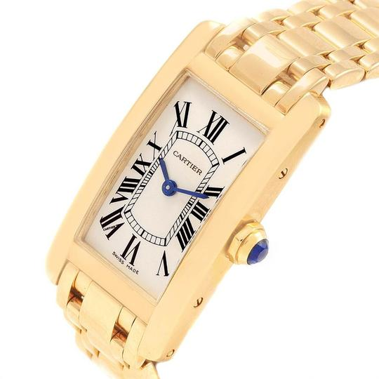Cartier Cartier Tank Americaine 18K Yellow Gold Ladies Watch W26015K2 Image 4