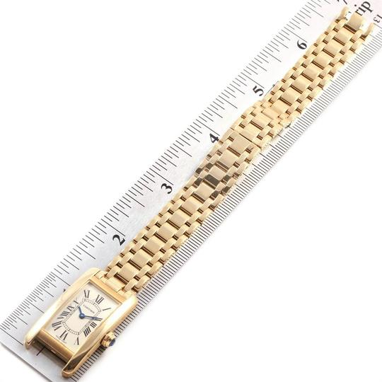 Cartier Cartier Tank Americaine 18K Yellow Gold Ladies Watch W26015K2 Image 7