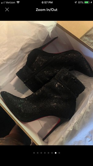 Christian Louboutin Black with glitter Boots Image 1