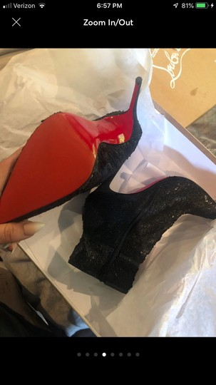 Christian Louboutin Black with glitter Boots Image 4