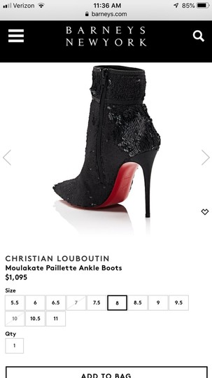 Christian Louboutin Black with glitter Boots Image 5