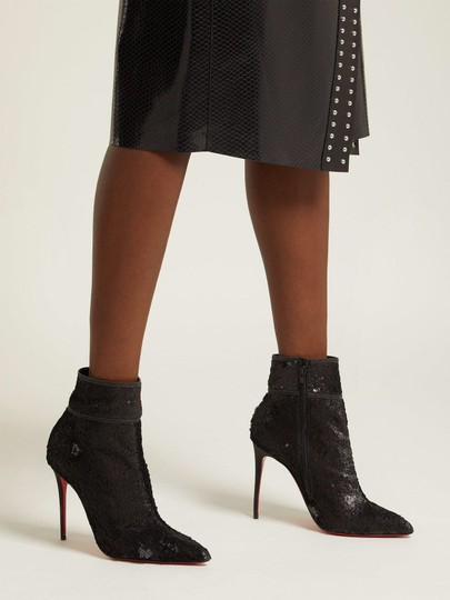 Christian Louboutin Black with glitter Boots Image 8