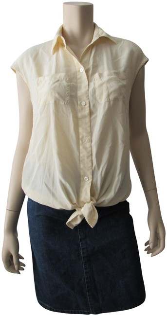 Preload https://img-static.tradesy.com/item/25050787/kenneth-cole-butter-short-sleeve-tie-bow-silky-blouse-button-down-top-size-4-s-0-1-650-650.jpg
