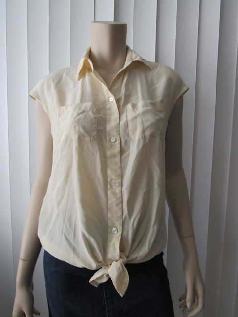Kenneth Cole Button Down Shirt Butter Image 2