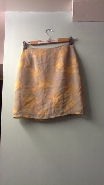 Bloomingdales Skirt robin s egg blue and light brown / amber
