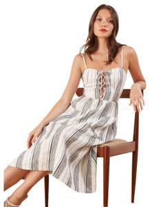 Maxi Dress by Reformation Linen Striped Vacation