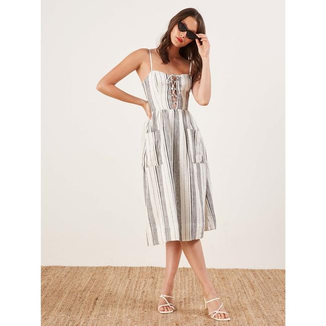Maxi Dress by Reformation Linen Striped Vacation Image 1