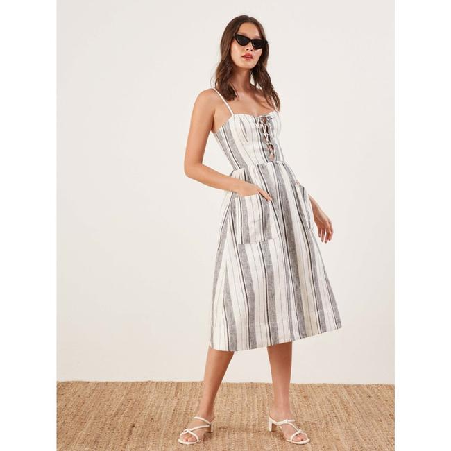 Maxi Dress by Reformation Linen Striped Vacation Image 3