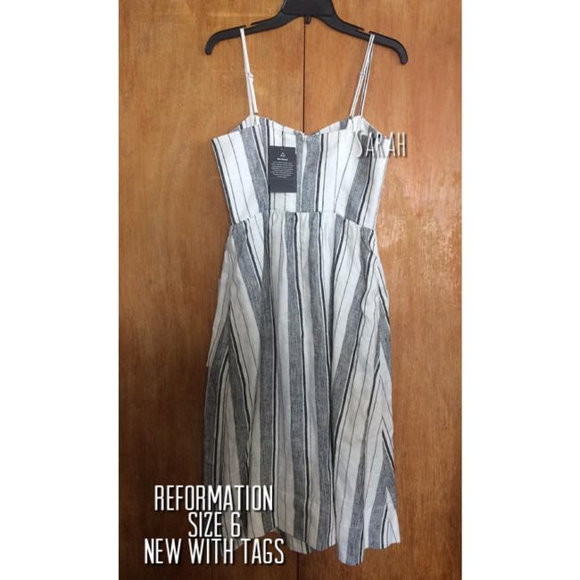 Maxi Dress by Reformation Linen Striped Vacation Image 5