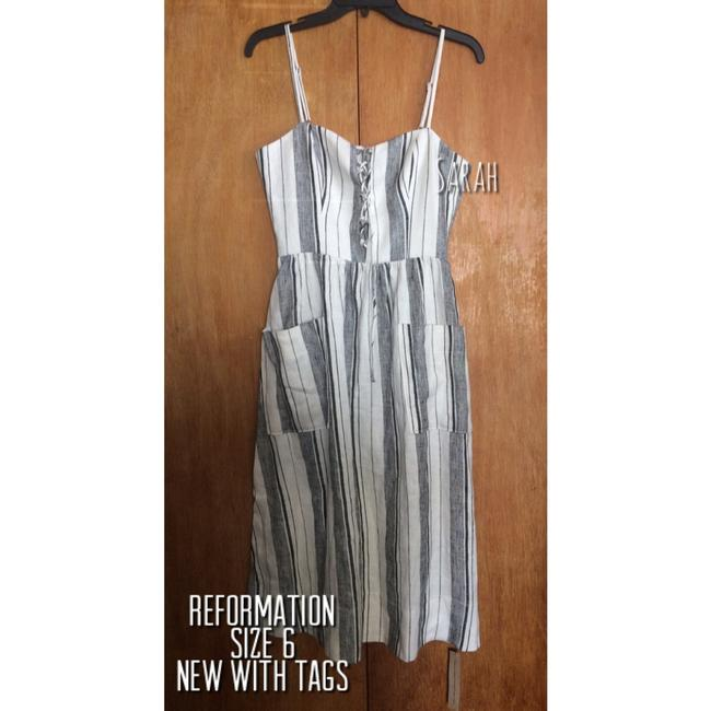 Maxi Dress by Reformation Linen Striped Vacation Image 6