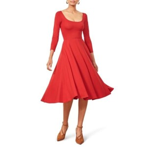 Red Maxi Dress by Reformation Midi Cherry