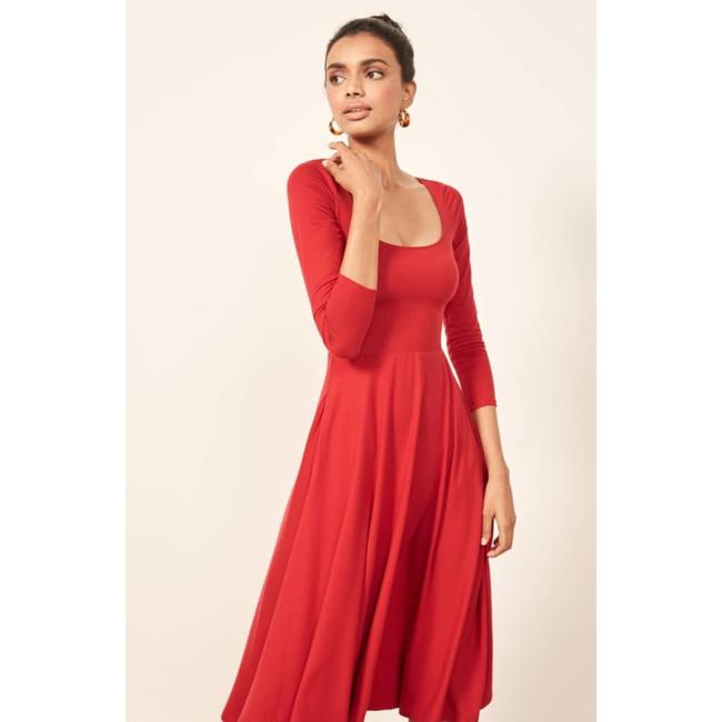 Red Maxi Dress by Reformation Midi Cherry Image 1