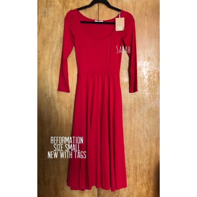 Red Maxi Dress by Reformation Midi Cherry Image 4