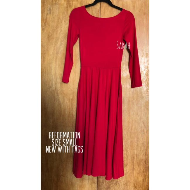 Red Maxi Dress by Reformation Midi Cherry Image 5