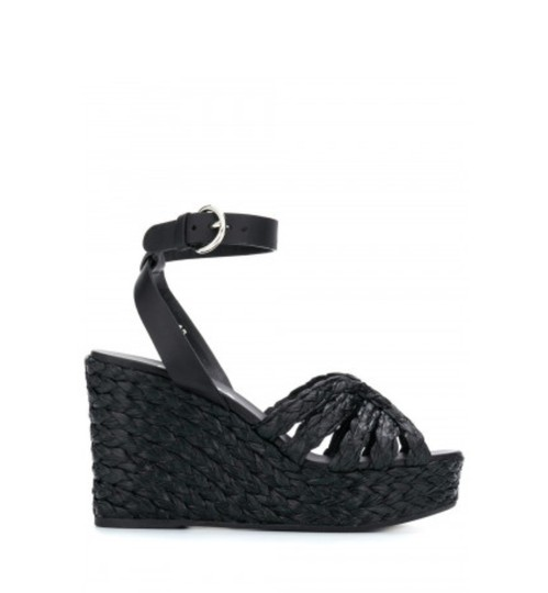 Prada Black Wedges Image 1